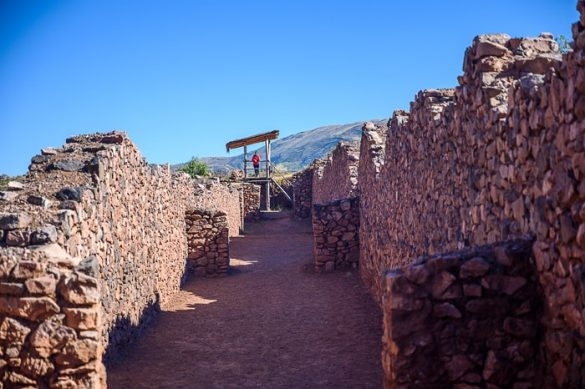 inkovske ruševine, ostanki zidov Piquillacta