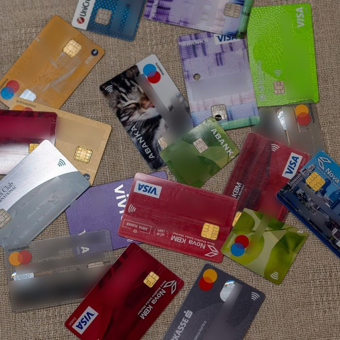 bančne kartice Visa, Maestro, MasterCard, Diners
