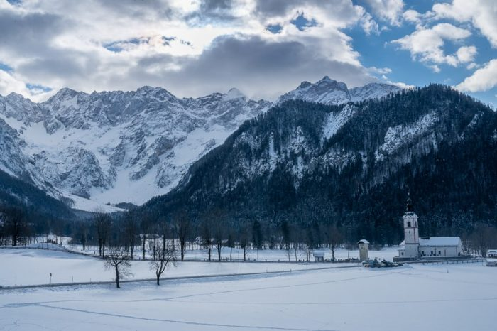 snežna pokrajina Jezersko