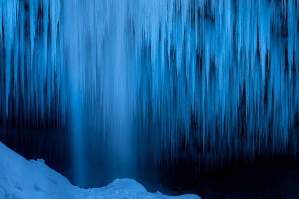 zamrznjen slap peričnik