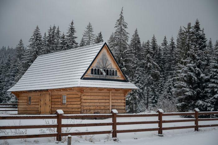 lesena hiša v poljskih Tatrah