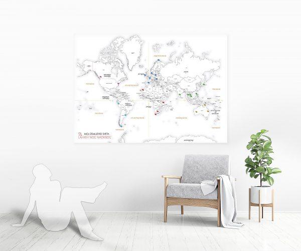 zemljevid sveta z bucikami mockup