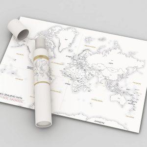 Zemljevid sveta plakat
