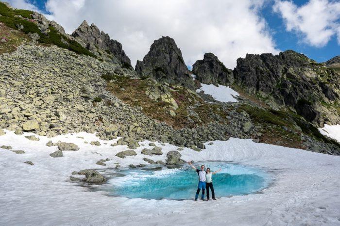 Ledeniško jezero. Nacionalni park Retezat - treking v Romuniji