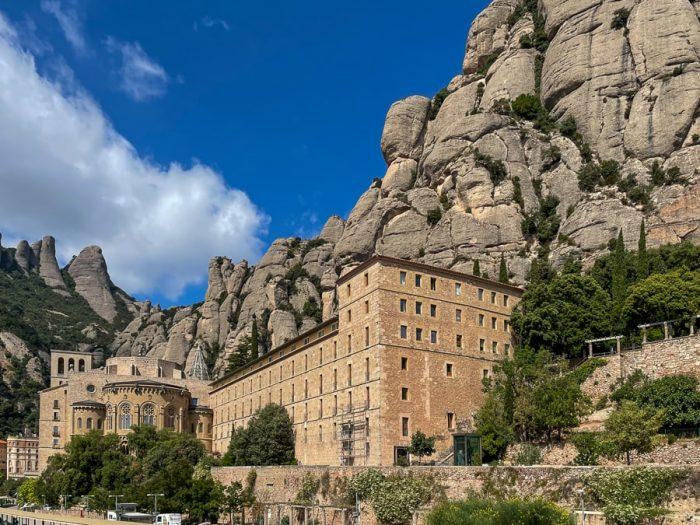 samostan v skalah. samostan Montserrat, Španija