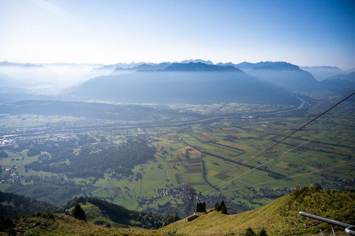reka Ren na meji med Švico in Avstrijo