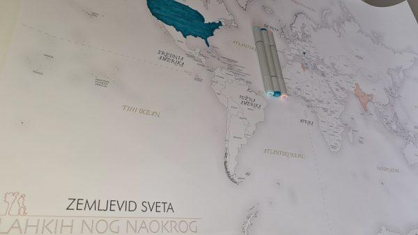zemljevid sveta za barvanje