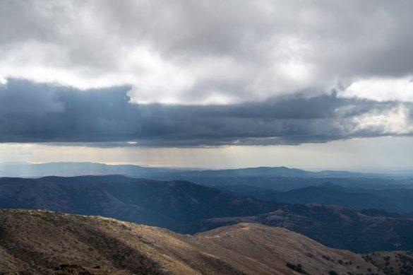 oblaki nad Sardinijo