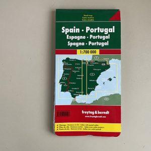 zemljevid Španija in Portuglaska